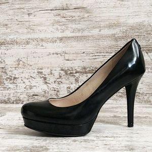 ⚅Michael Kors Black Leather Platform Heels
